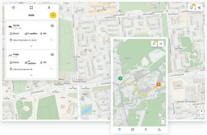 GPS Trace — мобильное приложение