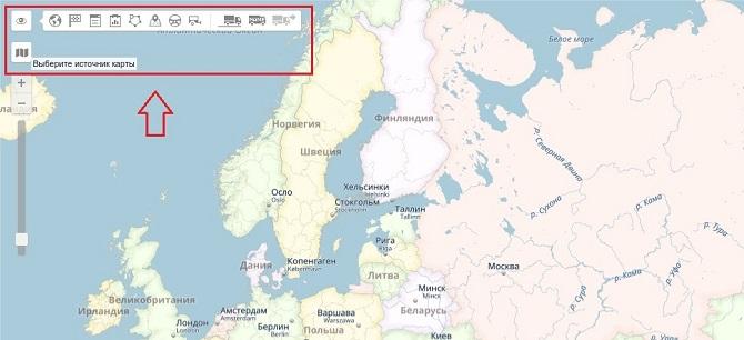 Перенос инструментом на карте в системе Wialon