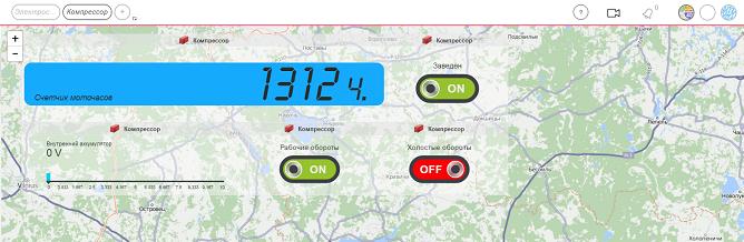 Контроль датчиков стационарных объектов в приложения Sensalotar