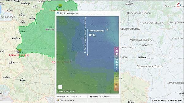 Погода на карте